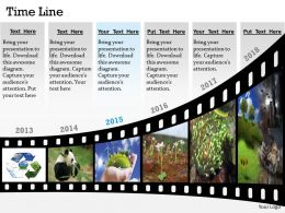 Show Data By Timeline Roadmap Diagram 0314