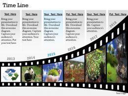 Show Data By Timeline Roadmap Diagram 0314