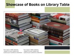 Showcase Of Books On Library Table