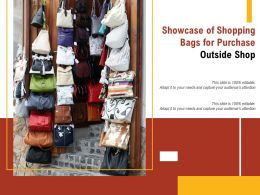 Showcase Of Shopping Bags For Purchase Outside Shop