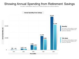 Showing Annual Spending From Retirement Savings