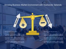 Showing Business Market Environment With Headwinds Tailwinds