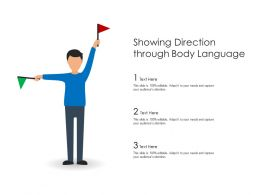 Showing Direction Through Body Language