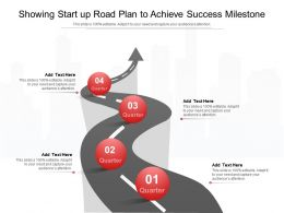 Showing Start Up Road Plan To Achieve Success Milestone