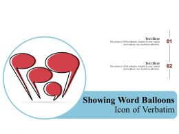 Showing Word Balloons Icon Of Verbatim