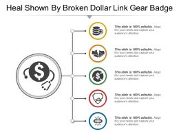 Shown By Broken Dollar Link Gear Badge