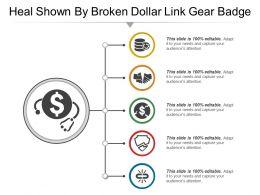 Shown By Broken Dollar Link Gear Badge