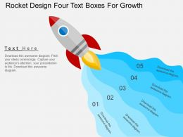 si Rocket Design Four Text Boxes For Growth Flat Powerpoint Design