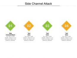 Side Channel Attack Ppt Powerpoint Presentation Model Design Templates Cpb