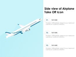 Side View Of Airplane Take Off Icon