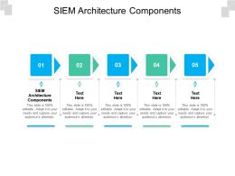 SIEM Architecture Components Ppt Powerpoint Slide Download Cpb