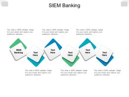 SIEM Banking Ppt Powerpoint Presentation File Deck Cpb