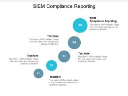 SIEM Compliance Reporting Ppt Powerpoint Presentation Portfolio Example Cpb