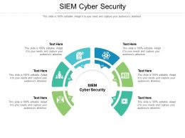 SIEM Cyber Security Ppt Powerpoint Presentation Summary File Formats Cpb