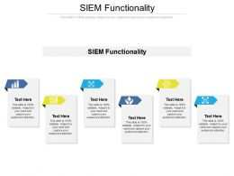 SIEM Functionality Ppt Powerpoint Presentation Inspiration Graphics Cpb