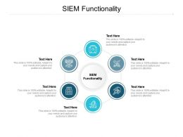SIEM Functionality Ppt Powerpoint Presentation Pictures Microsoft Cpb