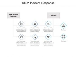 SIEM Incident Response Ppt Powerpoint Presentation File Example File Cpb