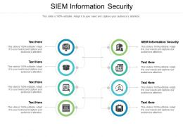 SIEM Information Security Ppt Powerpoint Presentation Professional Infographics Cpb