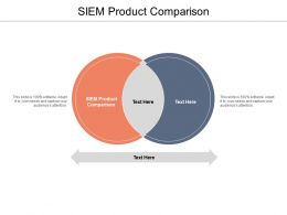 SIEM Product Comparison Ppt Powerpoint Presentation Infographics Example Topics Cpb