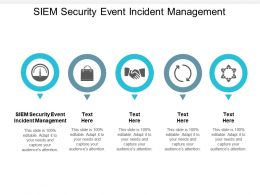 SIEM Security Event Incident Management Ppt Powerpoint Presentation Show Cpb