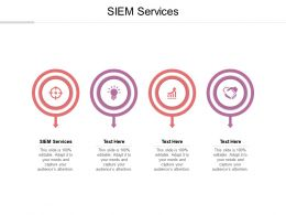 SIEM Services Ppt Powerpoint Presentation Gallery Inspiration Cpb