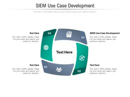 SIEM Use Case Development Ppt Powerpoint Presentation Summary Good Cpb