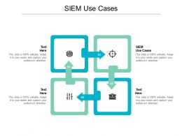 SIEM Use Cases Ppt Powerpoint Presentation Show Graphics Pictures Cpb