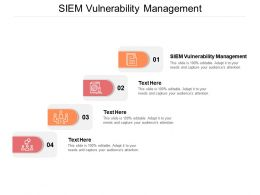 SIEM Vulnerability Management Ppt Powerpoint Presentation Styles Files Cpb