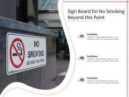 Sign Board For No Smoking Beyond This Point