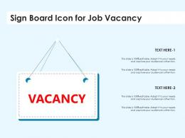 Sign Board Icon For Job Vacancy