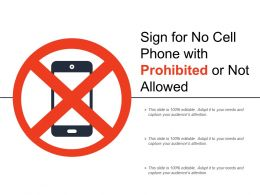 Sign For No Cell Phone With Prohibited Or Not Allowed