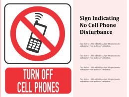 Sign Indicating No Cell Phone Disturbance