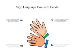 Sign Language Icon With Hands