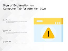Sign Of Exclamation On Computer Tab For Attention Icon