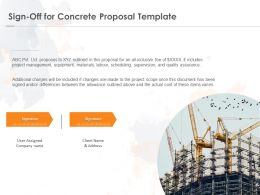 Sign Off For Concrete Proposal Template Ppt Powerpoint Presentation Outline Portfolio