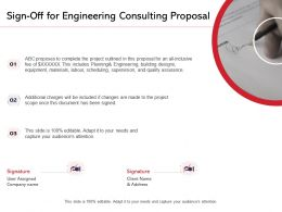 Sign Off For Engineering Consulting Proposal Ppt Powerpoint Presentation Professional Styles