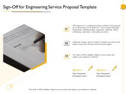 Sign Off For Engineering Service Proposal Template Ppt Powerpoint Presentation Images