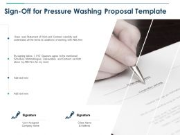 Sign Off For Pressure Washing Proposal Template Ppt Powerpoint Layouts
