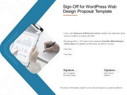 Sign Off For Wordpress Web Design Proposal Template Ppt Presentation Styles Maker