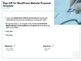 Sign Off For WordPress Website Proposal Template Ppt Powerpoint Presentation Example 2015