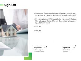 Sign Off Management Ppt Powerpoint Presentation Icon Example File