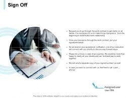 Sign Off Management Ppt Powerpoint Presentation Slides Gridlines