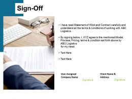 Sign Off Management Ppt Powerpoint Presentation Summary Icon