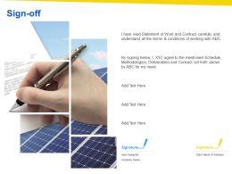 Sign Off Marketing L1110 Ppt Powerpoint Presentation Summary Topics