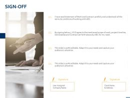 Sign Off Planning A860 Ppt Powerpoint Presentation Outline Deck