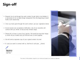 Sign Off Ppt Powerpoint Presentation Portfolio Show