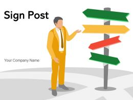 Sign Post Directional Background Informing Informative Solutions