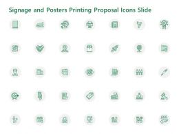 Signage And Posters Printing Proposal Icons Slide Ppt Powerpoint Presentation Infographic