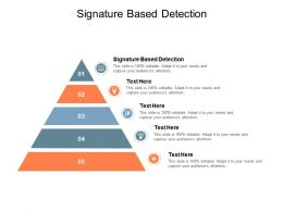 Signature Based Detection Ppt Powerpoint Presentation Model Diagrams Cpb