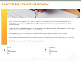 Signature For Sponsorship Proposal Ppt Powerpoint Presentation Visual Aids